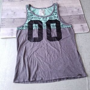 On the Byas mint green gray muscle tee medium